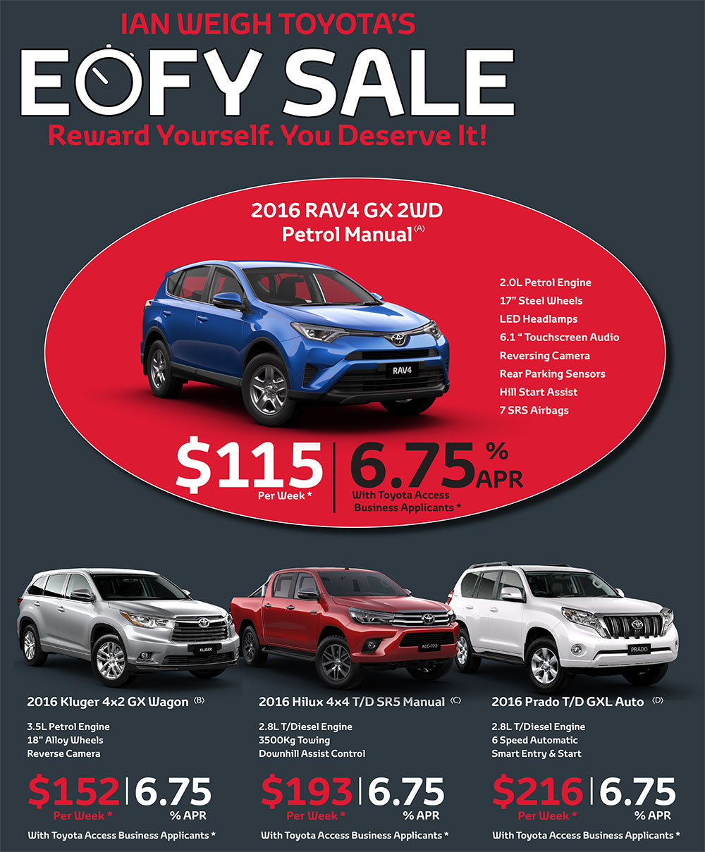 Toyota Finance Deals >> Ian Weigh Toyota Eofy Clearance Ian Weigh Toyota