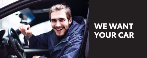 WE WANT YOUR CAR 200 X 500